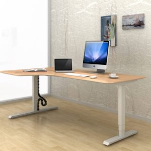 โต๊ะยืน-นั่งทํางาน Sit-Stand Smart Desk รุ่น ET3-L-Mix