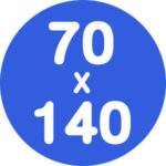 70x140cm